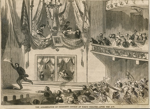 Ford's theater at the time of Lincoln's assassination