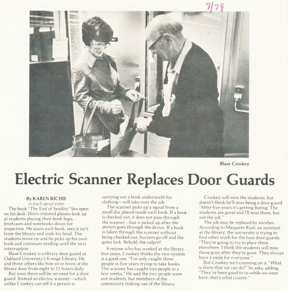 Electric scanner replaces door guards