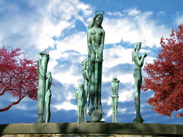 Saints and Sinners sculpture
