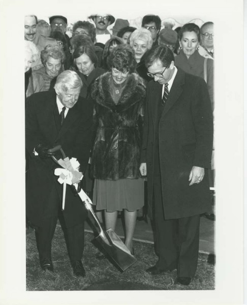 Groundbreaking ceremony for Kresge Library expansion