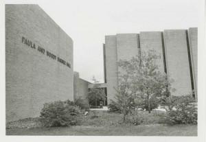 Back of Paula and Woody Varner Hall, circa 1976