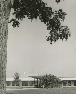 New student center from the south, 1960